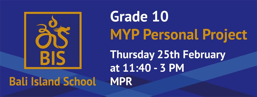 What can I do for my MYP Personal Project?